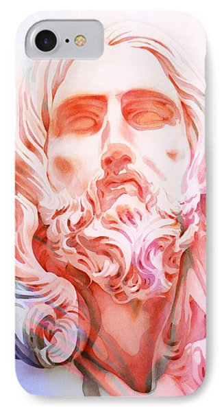 IPhone Case featuring the painting Abstract Jesus 1 by J- J- Espinoza