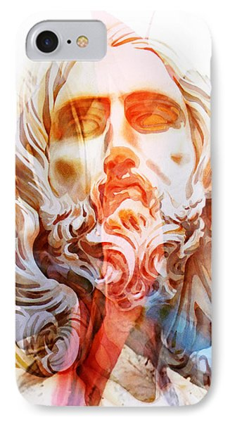 IPhone Case featuring the painting Abstract Jesus 2 by J- J- Espinoza