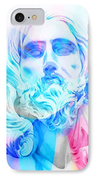 IPhone Case featuring the painting Abstract Jesus 3 by J- J- Espinoza