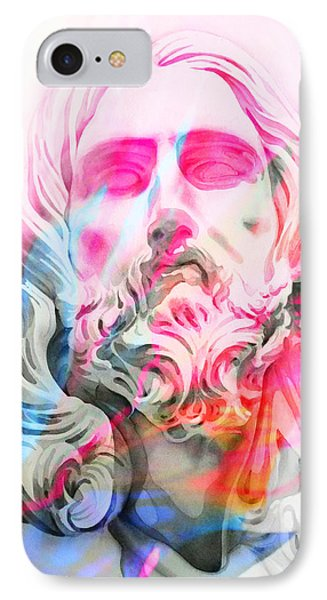 IPhone Case featuring the painting Abstract Jesus 4 by J- J- Espinoza