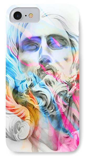 IPhone Case featuring the painting Abstract Jesus 5 by J- J- Espinoza