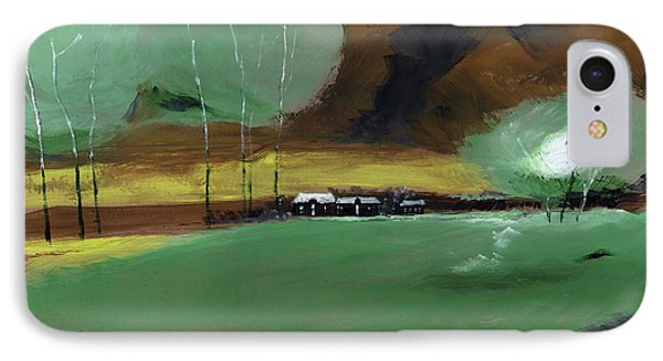 IPhone Case featuring the painting Abstract Landscape by Anil Nene