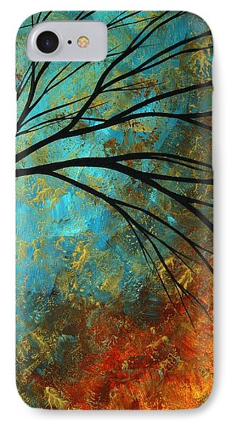Abstract Landscape Art Passing Beauty 4 Of 5 Phone Case by Megan Duncanson