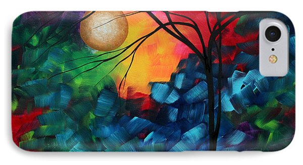 Abstract Landscape Bold Colorful Painting Phone Case by Megan Duncanson