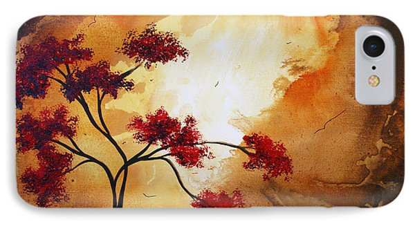 Abstract Landscape Painting Empty Nest 12 By Madart Phone Case by Megan Duncanson