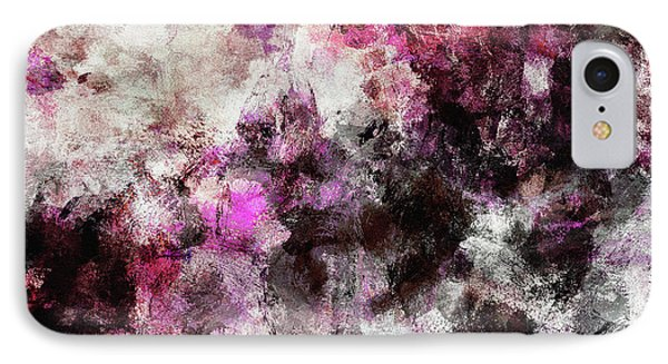 Abstract Landscape Painting In Purple And Pink Tones IPhone Case by Ayse Deniz
