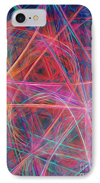 IPhone Case featuring the digital art Abstract Light Show by Andee Design