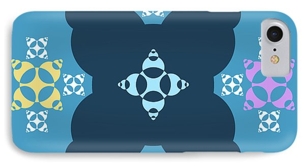 Abstract Mandala Blue, Dark Blue And Cyan Pattern For Home Decoration IPhone Case
