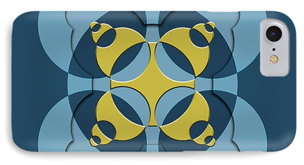Abstract Mandala Blue, Dark Blue And Green Pattern For Home Decoration IPhone Case