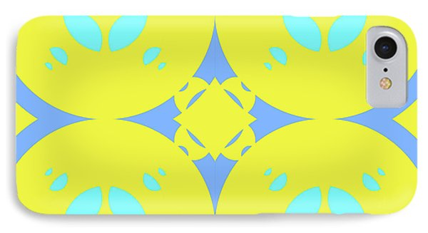 Abstract Mandala Cyan, Dark Blue And Green Pattern For Home Decoration IPhone Case