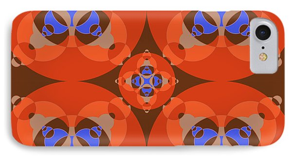 Abstract Mandala Orange, Brown, Blue And Cyan Pattern For Home Decoration IPhone Case