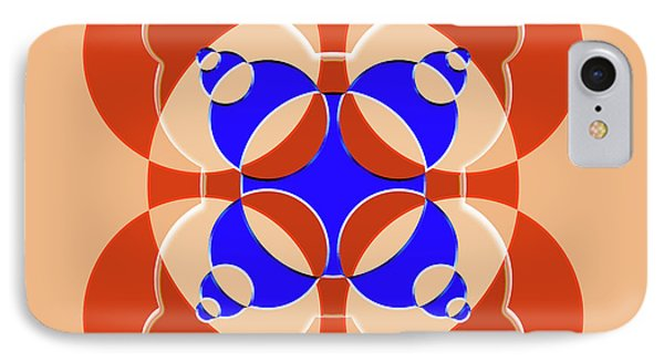 Abstract Mandala Pink, Orange And Blue Pattern For Home Decoration IPhone Case