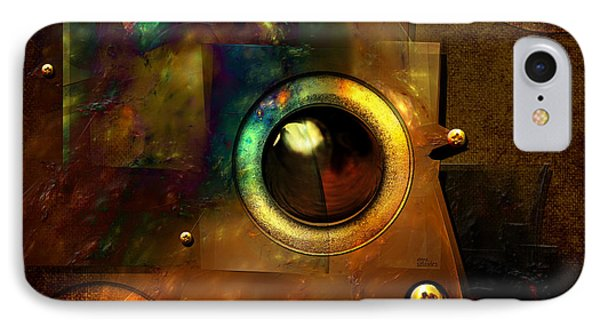 IPhone Case featuring the digital art Abstract Metal Plates by Alexa Szlavics