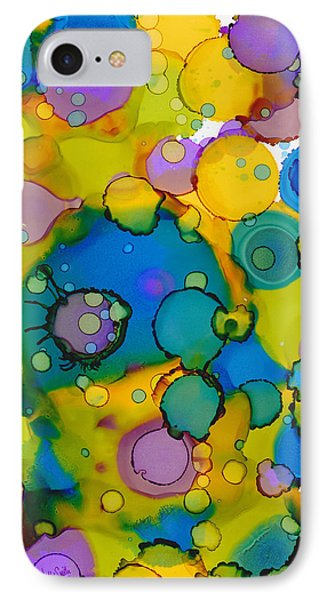 IPhone Case featuring the painting Abstract Microscope Party by Nikki Marie Smith