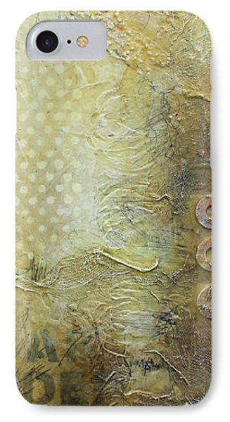 Abstract Modern Art Earth Tones IPhone Case by Patricia Lintner