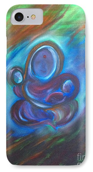 IPhone Case featuring the painting Abstract Mother by Brindha Naveen