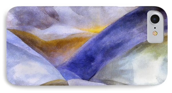 Abstract Mountain Landscape Phone Case by Michelle Calkins