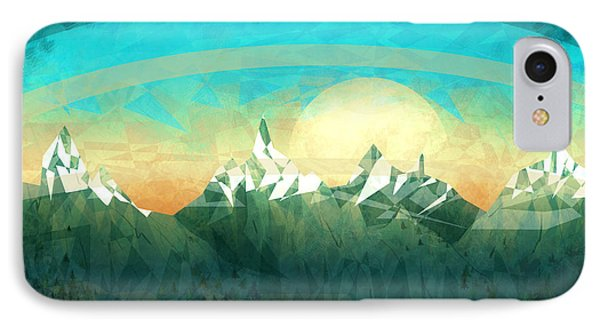 Abstract Mountain IPhone Case by Thubakabra