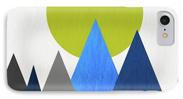 Abstract Mountains And Sun IPhone Case by Dan Sproul