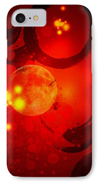 Abstract-nebula Phone Case by Patricia Motley
