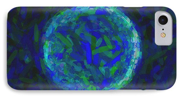 Abstract Nebulla With Galactic Cosmic Cloud 41 Circle 1 IPhone Case by Celestial Images