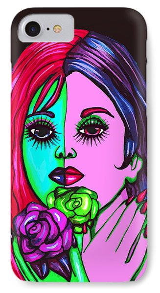 Abstract Neon Rose Fairy IPhone Case