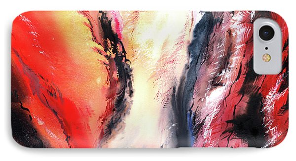 IPhone Case featuring the painting Abstract New by Anil Nene