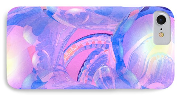 Abstract Number 7 IPhone Case by Peter J Sucy
