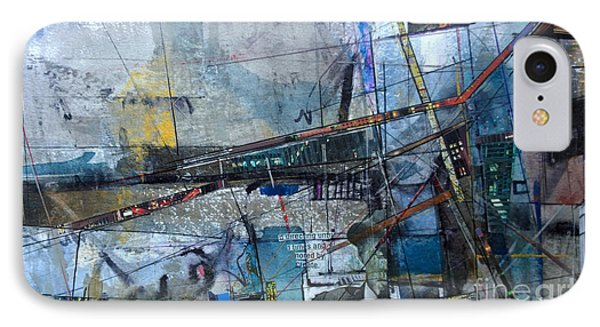IPhone Case featuring the painting Abstract Nyc #2 by Robert Anderson