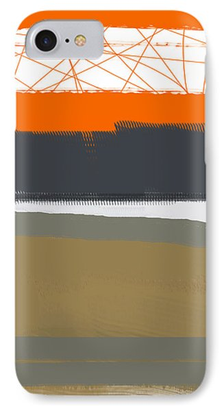 Abstract Orange 1 IPhone Case by Naxart Studio