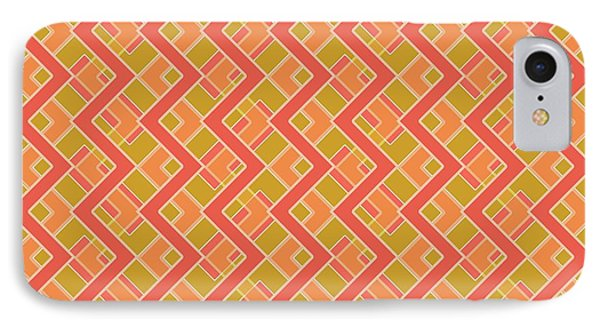 Abstract Orange, Red And Brown Pattern For Home Decoration IPhone Case