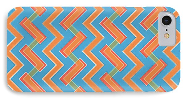 Abstract Orange, Red And Cyan Pattern For Home Decoration IPhone Case