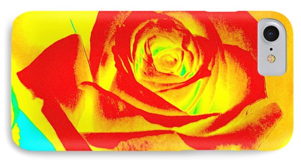 Abstract Orange Rose IPhone Case by Karen J Shine