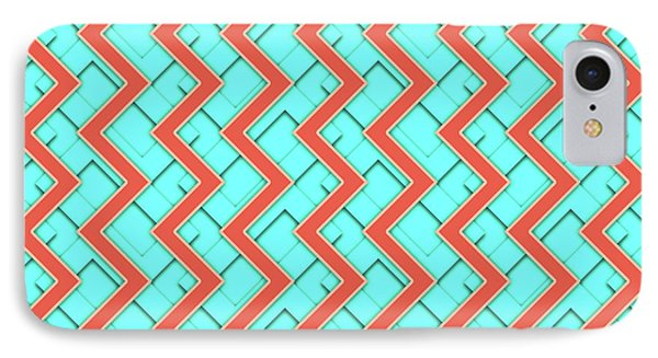 Abstract Orange, Yellow And Cyan Pattern For Home Decoration IPhone Case