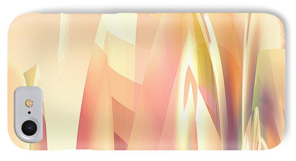 Abstract Orange Yellow IPhone Case by Robert G Kernodle