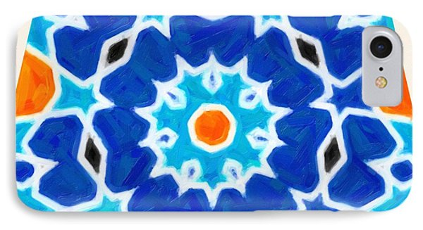 Abstract Oriental Design IPhone Case by Celestial Images