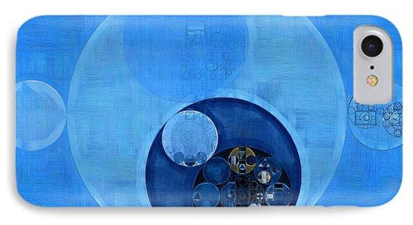 Abstract Painting - Bleu De France IPhone Case