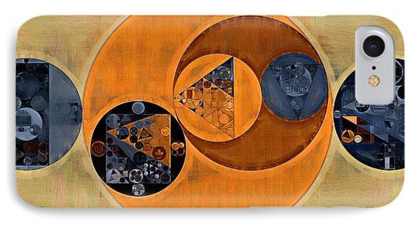 Abstract Painting - Cinnamon IPhone Case by Vitaliy Gladkiy