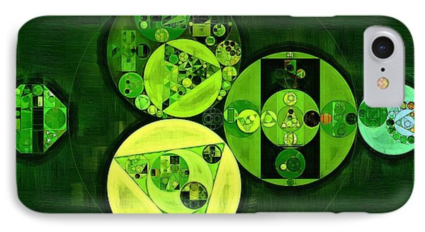 Abstract Painting - Dark Green IPhone Case by Vitaliy Gladkiy