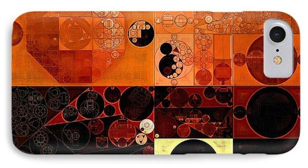 Abstract Painting - Sinopia IPhone Case by Vitaliy Gladkiy
