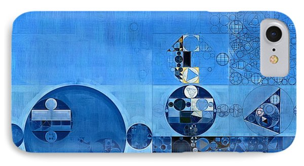 Abstract Painting - Tufts Blue IPhone Case