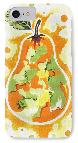 IPhone Case featuring the painting Abstract Pear by Kathleen Sartoris