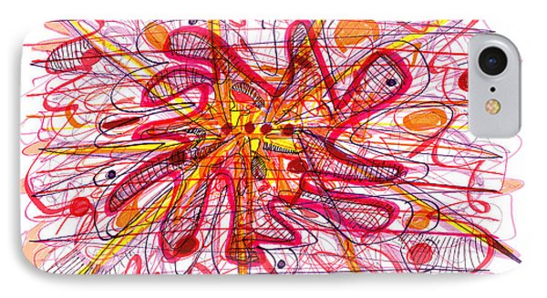 Abstract Pen Drawing Fifteen Phone Case by Lynne Taetzsch