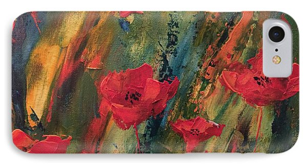 Abstract Poppies IPhone Case by Kristine Bogdanovich