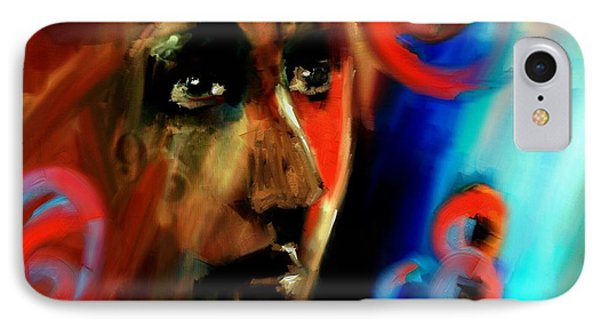 IPhone Case featuring the digital art Abstract Portrait - 02aug2017 by Jim Vance