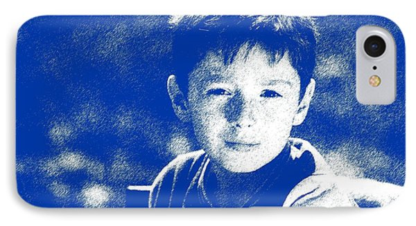 Abstract Portrait Of A Boy 2 IPhone Case by Celestial Images