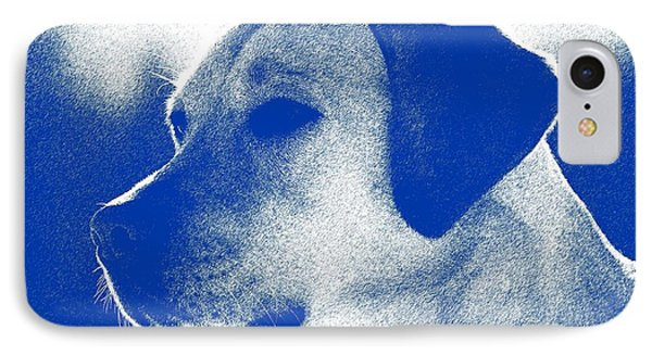 Abstract Portrait Of A Dog 2 IPhone Case by Celestial Images