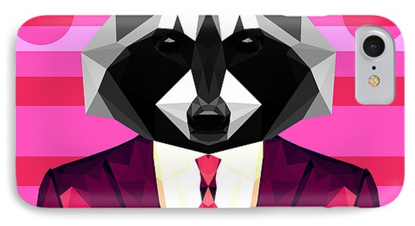 Abstract Raccoon IPhone Case by Gallini Design