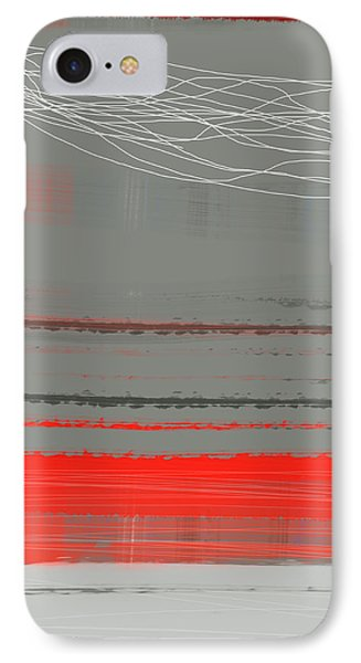Abstract Red 2 IPhone Case by Naxart Studio