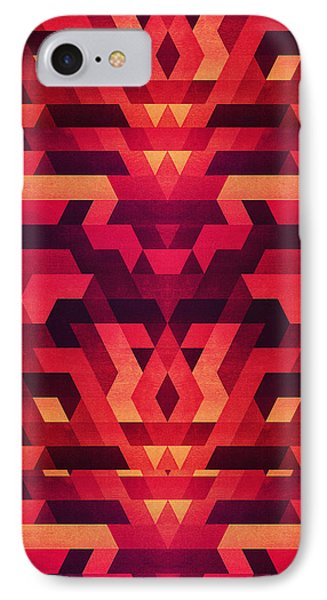 Abstract Red Geometric Triangle Texture Pattern Design Digital Futrure  Hipster  Fashion IPhone Case by Philipp Rietz